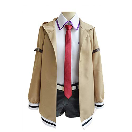 YKJ Anime Charakter braune Jacke weißes Hemd und Fliege Cosplay Halloween Party Kostüm vollen Satz,Full Set-Custom Made (Custom Made Kinder Halloween Kostüme)