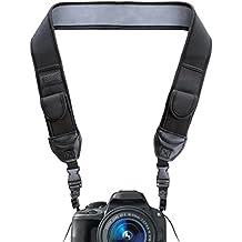 USA Gear Correa para el Cuello y Hombro para Cámara Reflex con Bolsillos - Nikon D5300 D5500 D3300 D3200 D500 Canon EOS 700D 750D 1300D 6D Sony Alpha A6300 A6000 A7 Pentax K50 y muchas más!