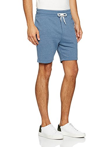 JACK & JONES Herren Jornewhouston Sweat Shorts Noos, Blau (Dark Denim Fit:Tight Semi Low Fit-Melange), 48 (Herstellergröße: S) (Tights Denim-shorts)