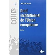 Droit institutionnel de l'Union européenne - 8e éd.