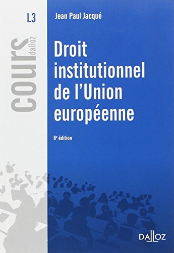 Droit institutionnel de l'Union Européenne : 2015
