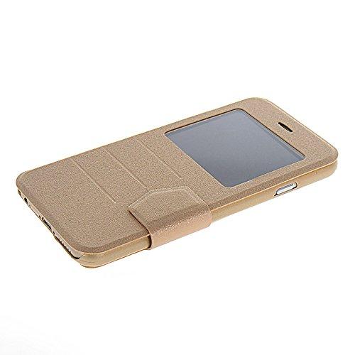 MOONCASE Etui Housse Cuir Portefeuille Case Cover Pour Apple iPhone 6 Doré Doré 02
