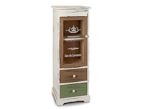 Takestop Mobile mueble aparador vitrina de cocina 1puerta 2cajones vintage salón salón sala de comedor