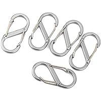 Forme de S Boucle Mousqueton–SODIAL (R) Lot de 5. Mini S forme Fourche isolée trousseau de clés fourche isolée trousseau de clés Clips mousqueton sécurité (Bleu)