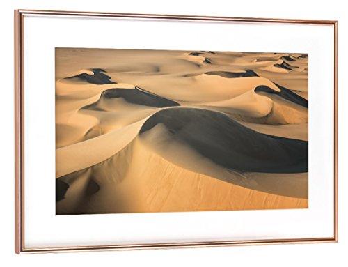 Wüste Umrahmt (artboxONE Poster mit Rahmen Kupfer 45x30 cm