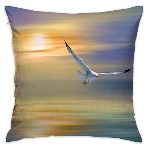"""FPDecor Housses de Coussin, Pillow Cover 18""""X18"""" inch Seagull Pillowcase Square Throw Case Cushion for Sofa Decorative"""