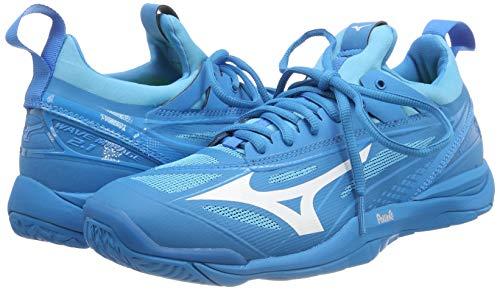 Mizuno Herren Shoe Waver Mirage Sneakers, Blau (Bjewel/Wht/Hocean 001), 46.5 EU - 5