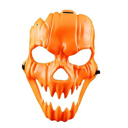 TINGSU Halloween-Maske mit lächelndem Gesicht, Kunststoff, für Kostümpartys, lustige ()