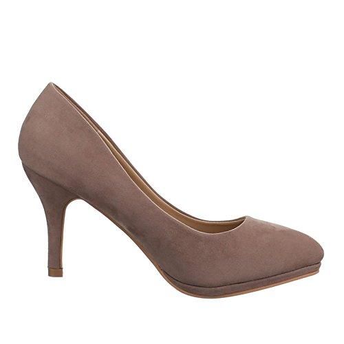 Damen Schuhe, WD35, PUMPS KLASSISCHE Hellbraun -amsel-ulm.de bc40643bda