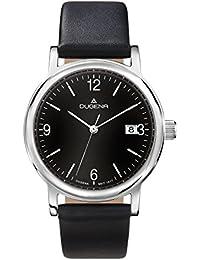 Dugena Herren-Armbanduhr Traditional Classic Analog Quarz Leder 4460632