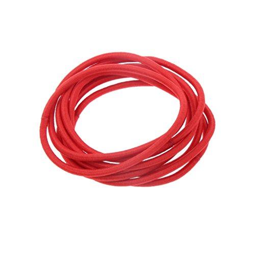 Zubehör für Haarfrisuren - für Frauen - Mädchen - 24pcs - 4.5 mm - verschiedene Farben - elastische Haargummis - Bänder - Pferdeschwanzhalter - Stirnband - Zopfband - Rot