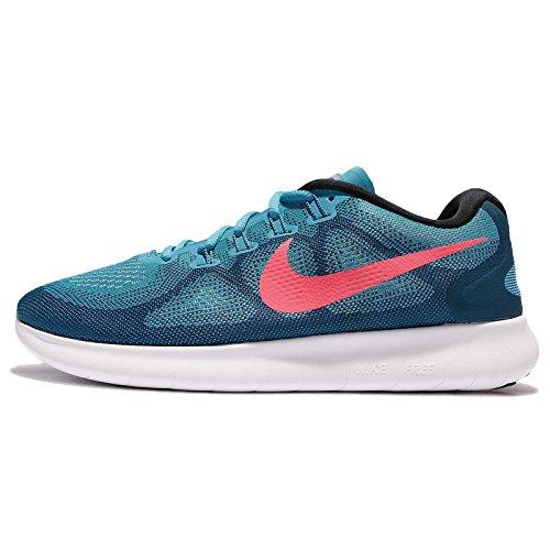 Nike Herren Free Run 2017 Laufschuhe Blau (Industrial Blue/Chlorine Blue/Hot Punch/White)