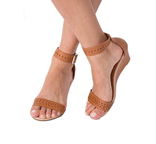 Lusty Chic , Sandales à semelle compensée femme Camel