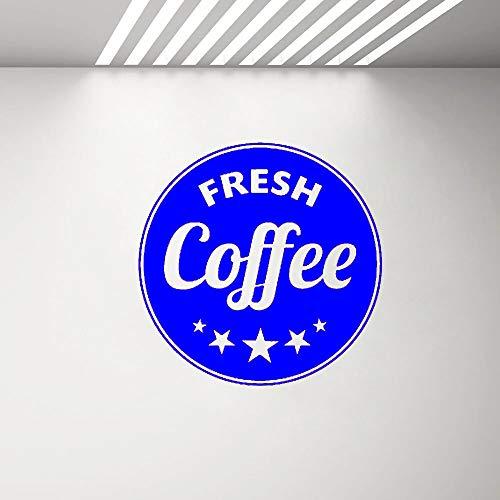 zqyjhkou Cafe Shop Zeichen Poster Wand Fenster Aufkleber frischen Kaffee Kreis Wand Aufkleber abnehmbare Selbstklebende Art Decal Wand Dekor 5 57 x 57 cm