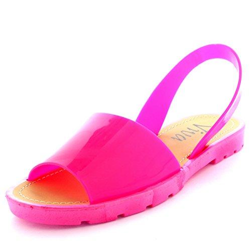 Slingback Toe Sliders Pio Damen Rosa Flatform Flip Festival Sandalen flops vxadqq