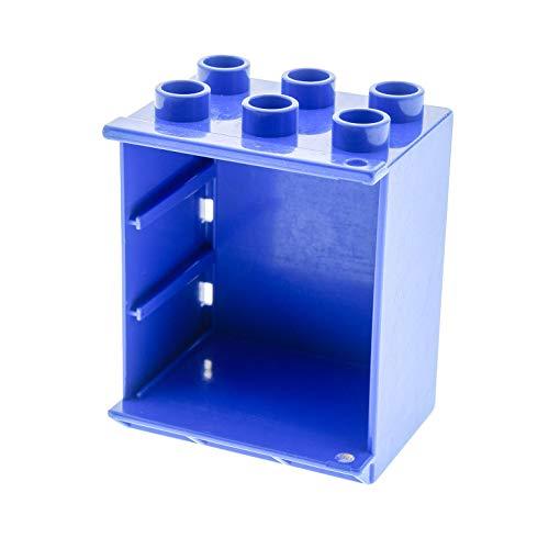 Bausteine gebraucht 1 x Lego Duplo Möbel Kühlschrank Gehäuse blau EIS Schrank Puppenhaus Küche 4914 (Kühlschrank-gehäuse)