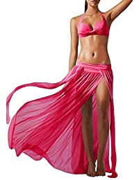 Good01 Falda Tul Mujer Moda Encubrimiento De Traje De Baño Bikini Playa Verano