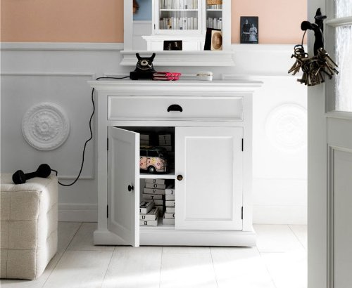 Albion Weiß lackiert Mahagoni Esszimmer Möbel Büffet Sideboard -