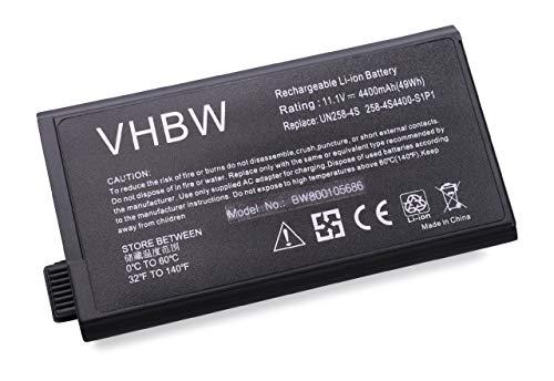 vhbw Li-Ion Akku 4400mAh (11.1V) für Notebook Laptop Averatec 6100, Fujitsu-Siemens Amilo A1630, D1840 wie 23-UD7010-0F, 258-3S4400-S2M1.