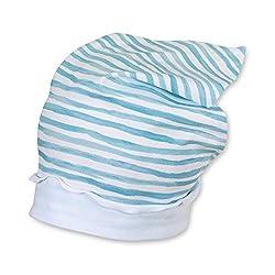Sterntaler - Mädchen Kopftuch, weiß blau gestrefit - 1451901, Größe 45