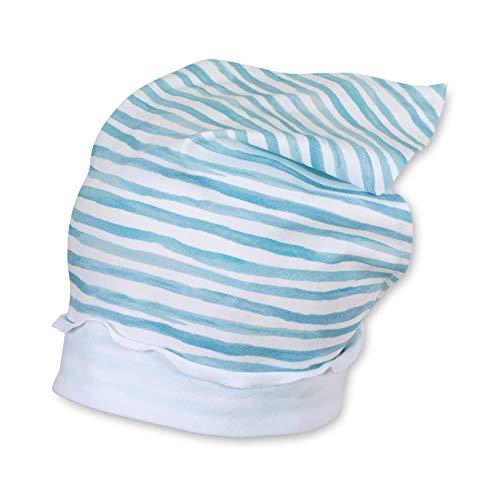 n Kopftuch, weiß blau gestrefit - 1451901, Größe 49 ()