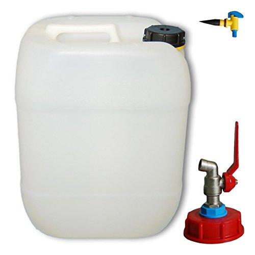 20 Liter Kanister mit Metallhahn & Entlüftungshahn (DIN 61)