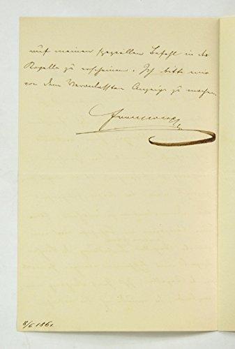 Eigenh. Brief m. Unterschrift.