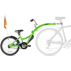 Weeride Co-Pilot Bicicleta Tamden Remolque Para Niños, Verde