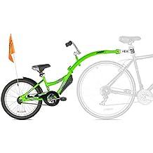 WeeRide Kids Co Pilot Tagalong Trailer Bike - Fluoro Green, 20 Inch