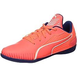 Puma 365 CT Jr, Zapatillas de Fútbol Unisex Niños, Naranja (Fiery Coral-White-Toreador), 18 EU