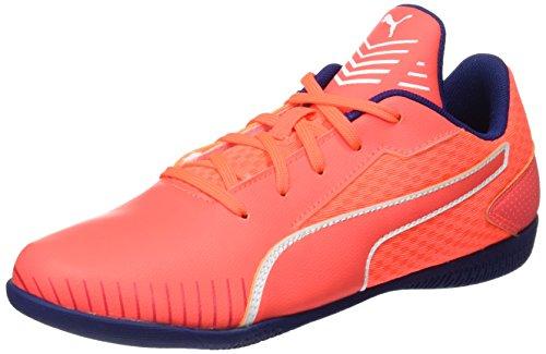 PUMA Unisex-Kinder 365 CT Jr Fußballschuhe, Orange (Fiery Coral-White-Toreador), 34 EU
