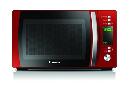 Microondas de libre instalación con Grill en color rojo, capacidad de 20 litros, 700 W de potencia y Grill de 1.000 W y función Cook in App.