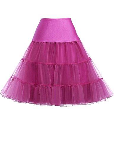 KekeHouse® Damens 50s Retro-Stil Unterkleid Schwingend Unterrock Lila