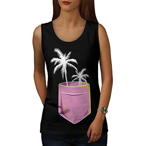 Palme Baum Niedlich Tasche Women M Tank Top | Wellcoda (Satin Anzug Leibchen)