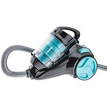 H.Koenig SLC85 - Aspirador sin bolsa multiciclónico silencioso +, Especial para Mascotas, 74 db , Filtro HEPA, Capacidad 2.5 l, Color Azul [Clase de eficiencia energética A]