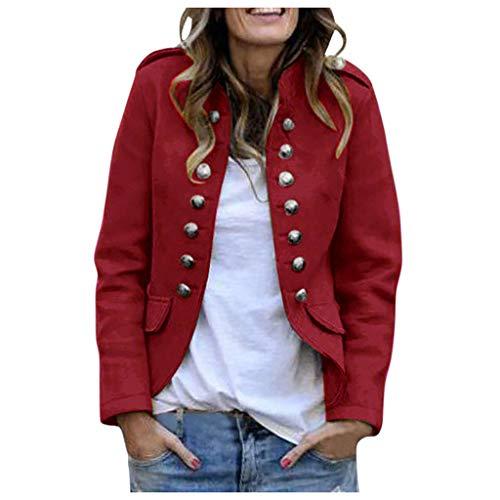 Damen Blazer Gotik Anzug Jacken Mantel Damenjacke Military Zweireiher Jacke Knöpfe Steampunk Dampf...
