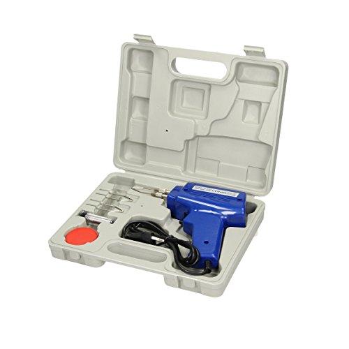 ECD Germany Lötpistole 100W mit LED Arbeitslicht inkl. 2 Lötspitzen 230V und Zubehörartikel im Systemkoffer Lötgerät Lötkolben Löten Lötzinn Lötbrenner Werkzeug (Lötkolben 100w)