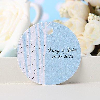 Comfot Personalisierte Gunst Tag Etiketten - Weißer Baum (36) Hochzeit Gefälligkeiten