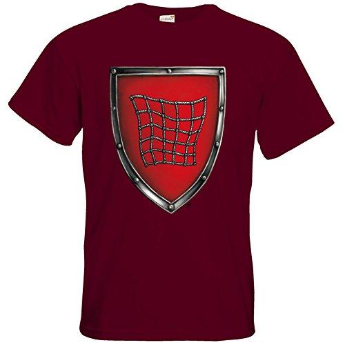 getshirts - Das Schwarze Auge - T-Shirt - Die streitenden Königreiche - Wappen Salza Burgundy