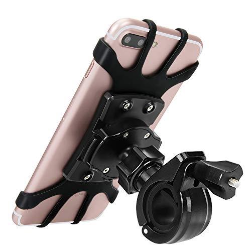 """Handyhalterung Fahrrad Silikon Handyhalter Fahrrad Handyhalter 360°drehbarer Einstellbare Kompatibel für alle 4\""""-6.5\"""" Zoll Smartphones und GPS-Geräte Sicher Flexibel langlebig für Fahrrad Motorrad"""