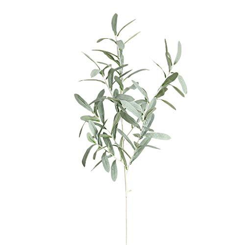 �nstliche Olivenblatt Weide künstliche Blume Grünpflanze Zweig Kranz Party Familie Vase Dekoration ()