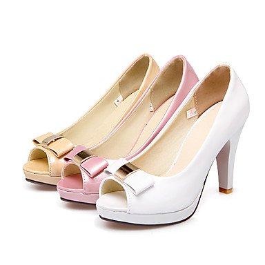 LvYuan Damen-Sandalen-Kleid-Kunstleder-Stöckelabsatz-Andere-Rosa Weiß Beige Beige