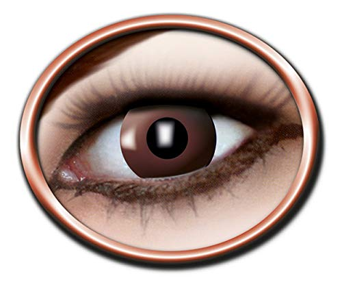 Eyecatcher Color Fun - Farbige Kontaktlinsen - Brown - braune Linse - 1 Paar - Ideal für Karneval, Fasching, Halloween & Party