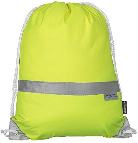 Salzmann Reflektierender Turnbeutel Sportbeutel 3M Scotchlite Neon Gelb