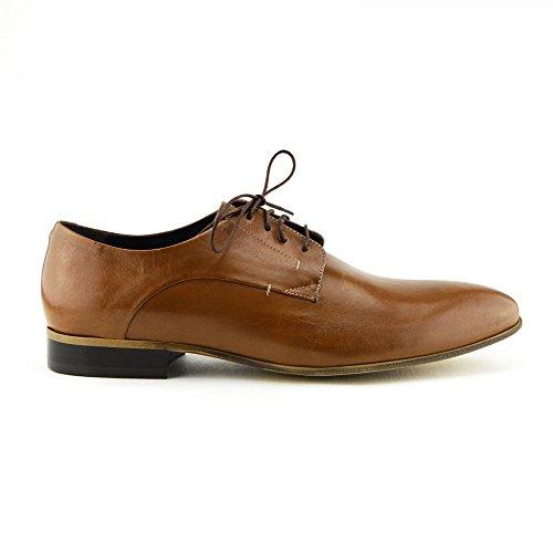Giatoma Niccoli-Scarpe Casual da uomo in pelle, colore: marrone chiaro Marrone (Marrone chiaro)
