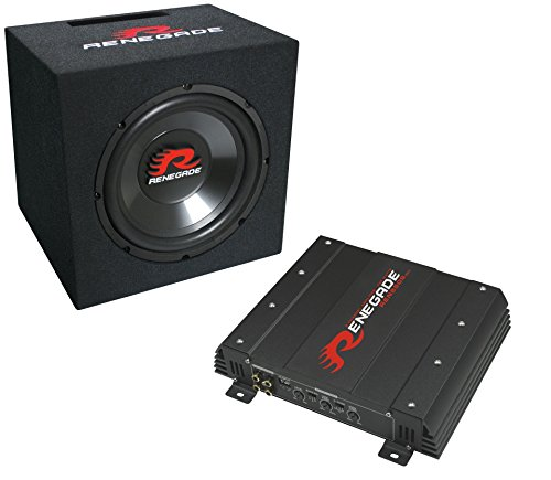 Renegade RBK550 Pre-Loaded Subwoofer 250 W – Car Subwoofer Tieftöner (Pre-Loaded, 250 W, 500 W, 90 Ohm, 25 cm, 4 Ohm) (Car-audio-subwoofer 250w)