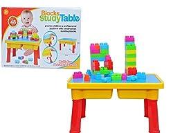Toys Bhoomi Children's Multi-Fun Block Building + Study Table