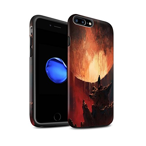 Offiziell Chris Cold Hülle / Matte Harten Stoßfest Case für Apple iPhone 7 Plus / Zerbrochenen Mond Muster / Fremden Welt Kosmos Kollektion Schmelzen Sonne