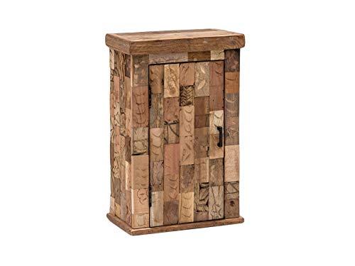 Woodkings/® Bad Waschbeckenunterschrank Patna Altholz M/öbel rustikal Unikat Holz antik braun Innenleben von Ziegelformen Badschrank Badm/öbel Landhaus Unikat recycelt