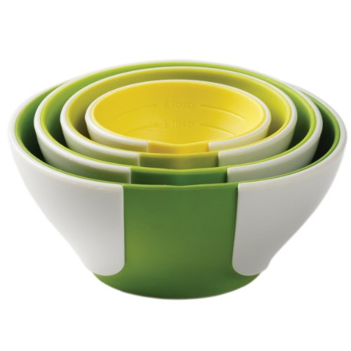 Chef´n Sleekstor 102-253-121 Measuring Bowls with Pinch and Pour Feature/Collapsible/Arugula Green/Avocado Green/Lemon Yellow